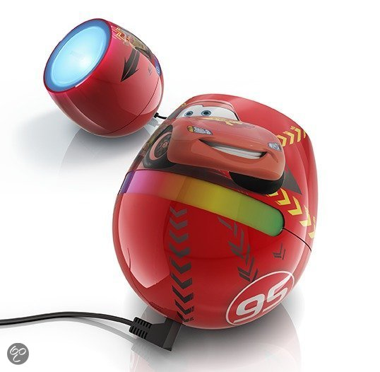 Philips Disney LivingColor Micro - Tafellamp - ø10 cm - Cars - Rood