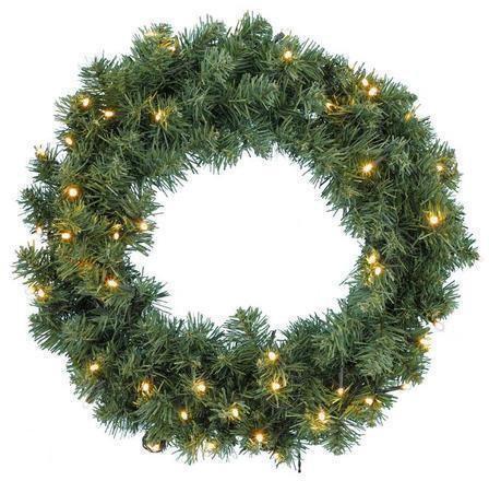 Kerstkrans inclusief led batterij verlichting for Bol com verlichting