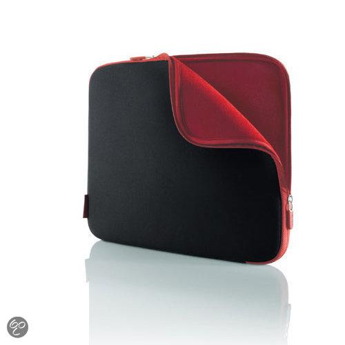 Belkin neoprene beschermhoes voor 12 inch laptops - Zwart/Rood