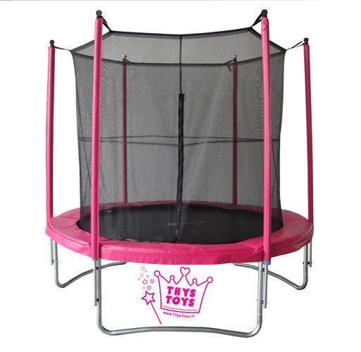 thystoys vangnet trampoline 180 cm roze prinsessen speelgoed. Black Bedroom Furniture Sets. Home Design Ideas