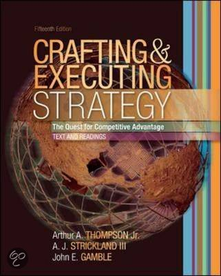 thompson strickland and gamble crafting and executing strategy text and readings mcgraw hill Crafting and executing strategy: text and readings jr thompson, a j strickland iii, john e gamble.