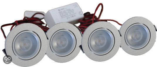 Led Inbouwspots Keuken : Fortuijn – Inbouwspots – LED – 4 Watt – Dimbaar – Set 4 spots – Chroom