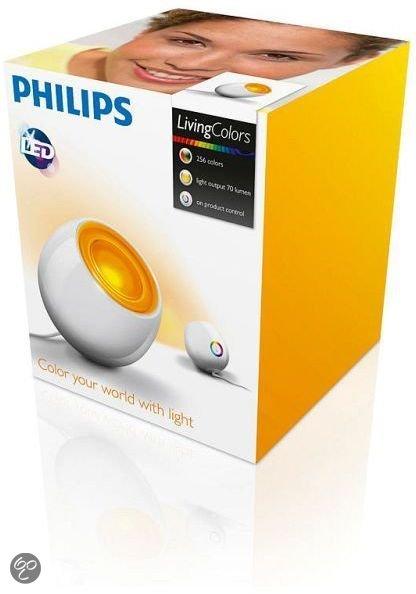 philips livingcolors mini tafellamp 15 cm led wit wonen. Black Bedroom Furniture Sets. Home Design Ideas