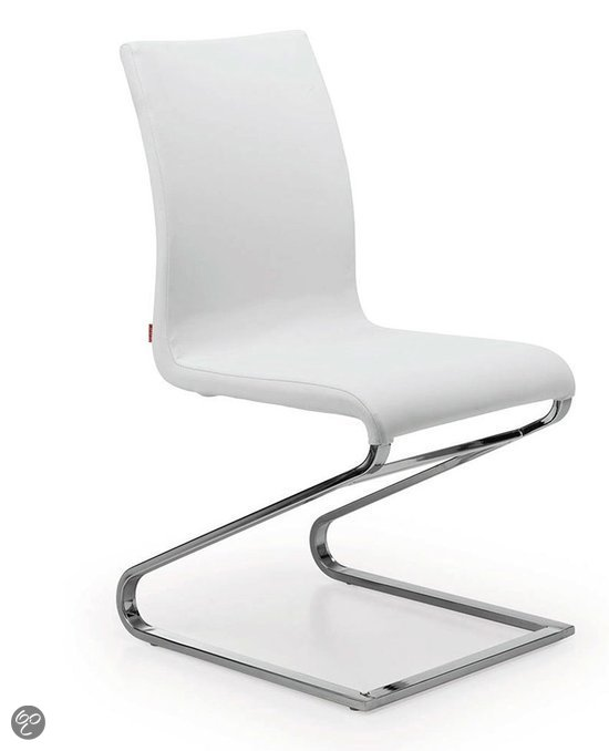 Laforma zenit eetkamerstoel wit set van 2 wonen - Eigentijds eetkamer model ...