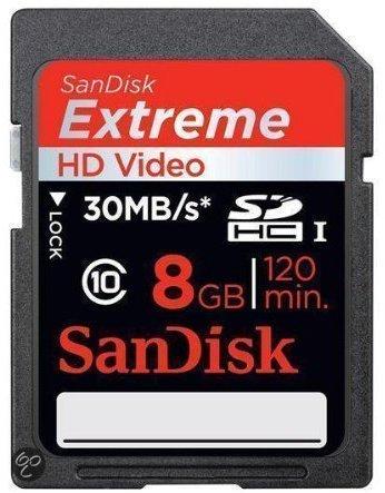 Sandisk Extreme SD kaart 8 GB