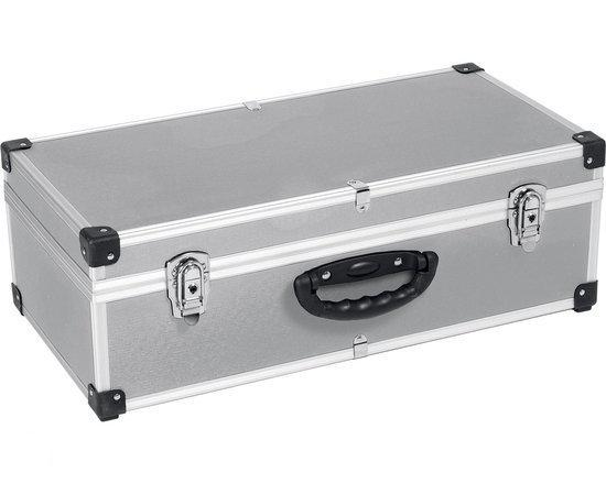 varo prm1010780 aluminium koffer voor max 80 cd 39 s lichtgewicht zilver. Black Bedroom Furniture Sets. Home Design Ideas