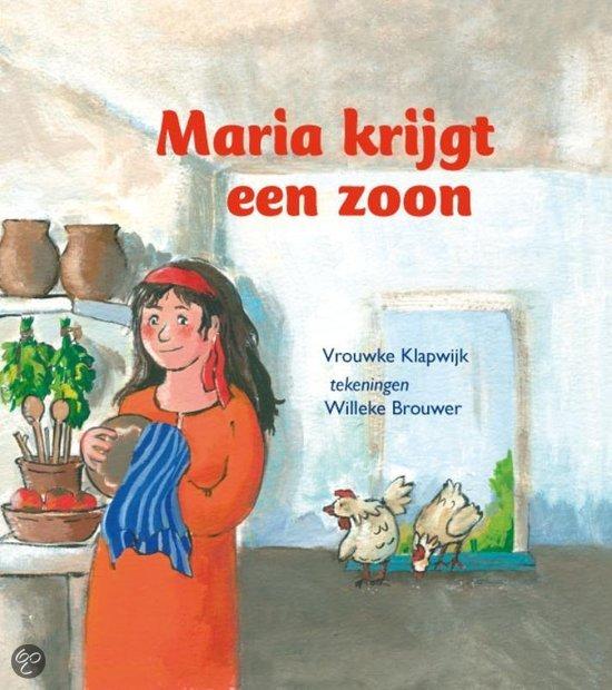 Cover van het boek 'Maria krijgt een zoon' van Vrouwke Klapwijk