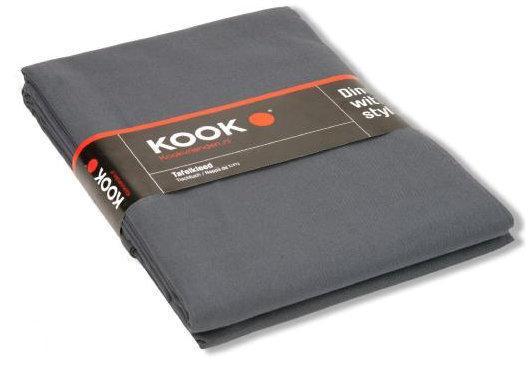 Kook uni tafelkleed 240 x 140 cm grijs for Ecksofa 240 x 240