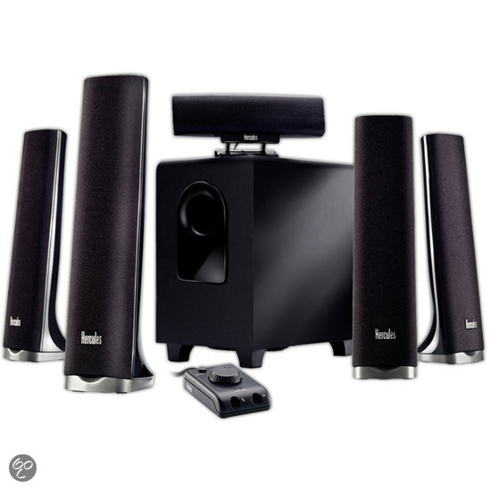 Hercules XPS 5.1 70 Slim - 5.1 Speakerset - Zwart