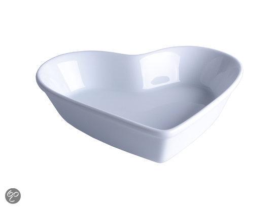 Imperial Kitchen Schaal - Hart - 26 cm - Wit