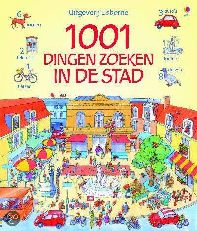 Cover van het boek '1001 dingen zoeken in de stad' van  *