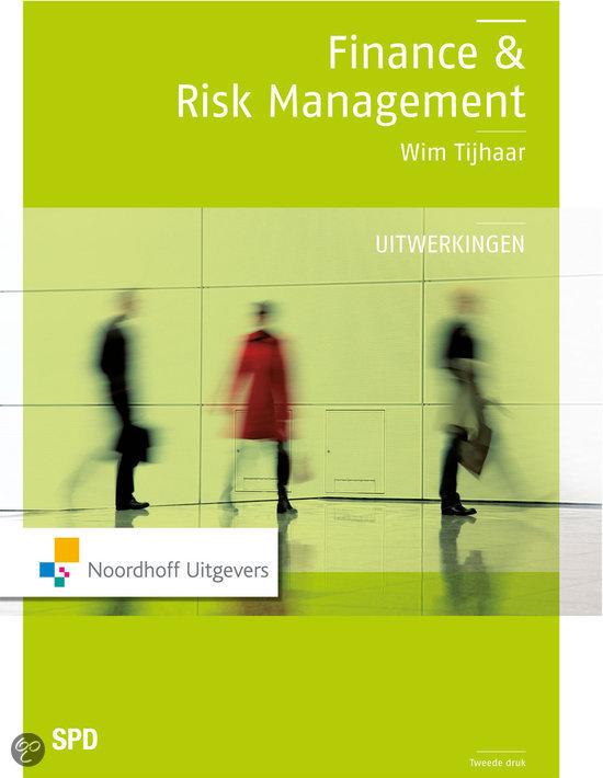 Finance en risk management uitwerkingen / deel Uitwerkingen