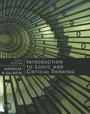introduction to logic and critical thinking salmon Introduction to logic and critical thinking by merrilee h salmon robert j  fogelin after taking introduction to logic, students are sometimes telling me that  they.