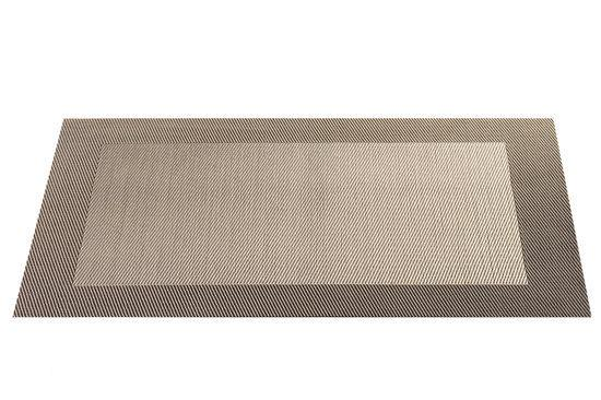 ASA Selection Geweven Rand Placemat -  33 x 46 cm - Brons