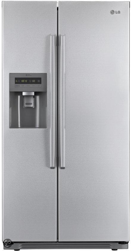 Amerikaanse Koelkasten Aanbieding kopen A koelkast amerikaans side by side dubbeldeurs  LG