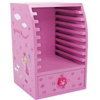 Small foot prinses cd en dvd opbergsysteem roze hout - Wereld thuis cd rek ...