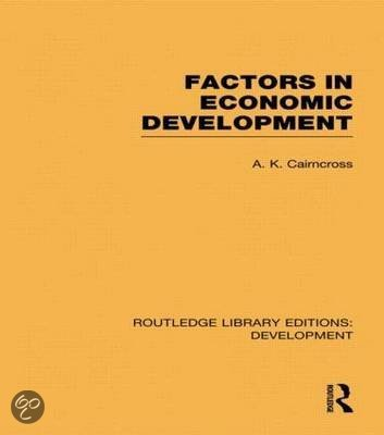Factors in Economic Development