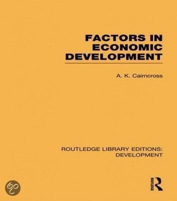 Factors in Economic Development