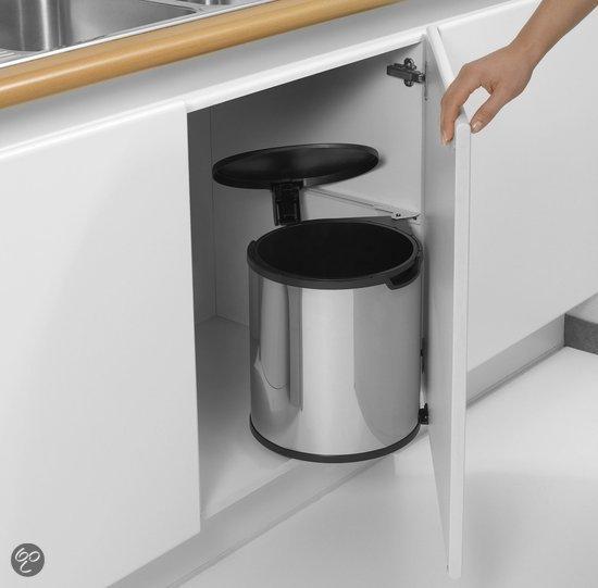 Afvalbak Keuken Brabantia : bol.com Brabantia Built-in-Bin Inbouw Prullenbak – 15 l – Brilliant
