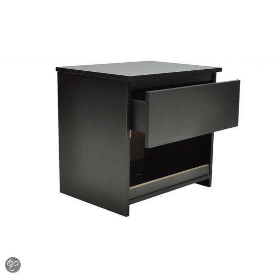 vidaxl nachtkastje zwart mdf set van 2 wonen. Black Bedroom Furniture Sets. Home Design Ideas