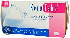KeruTabs Lactase Enzym - 100 Tabletten - Voedingssupplement