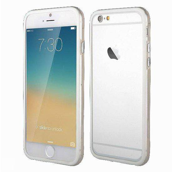 Apple iPhone 6 6G 4.7 Inch Bumper case Wit White + Transparant