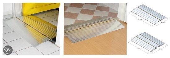 Kleine Wolke - Anti slip badmat Sign zilver 36x 80 cm in Hezingen