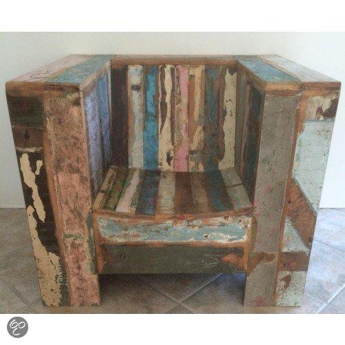 Otentic design stoel kubus lounge stoel sloophout wonen for Kubusgordijnen