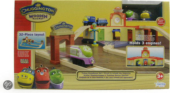 Chuggington Hout - Trainings Remise Speelset