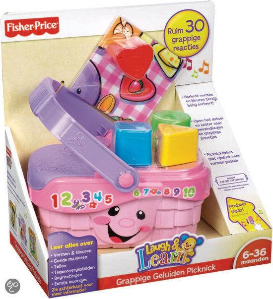 Fisher-Price Laugh & Learn Grappige Geluiden Picknick - Speelset