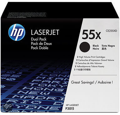 HP 55X - Tonercartridge Zwart