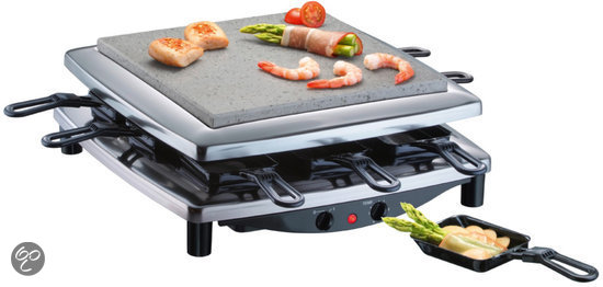 Steba Gourmet/Steengrill RC3 Plus - Chroom