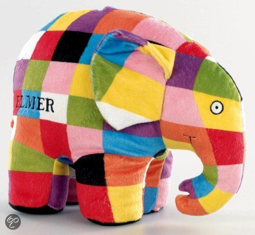 Pluche Elmer (30 cm hoog)
