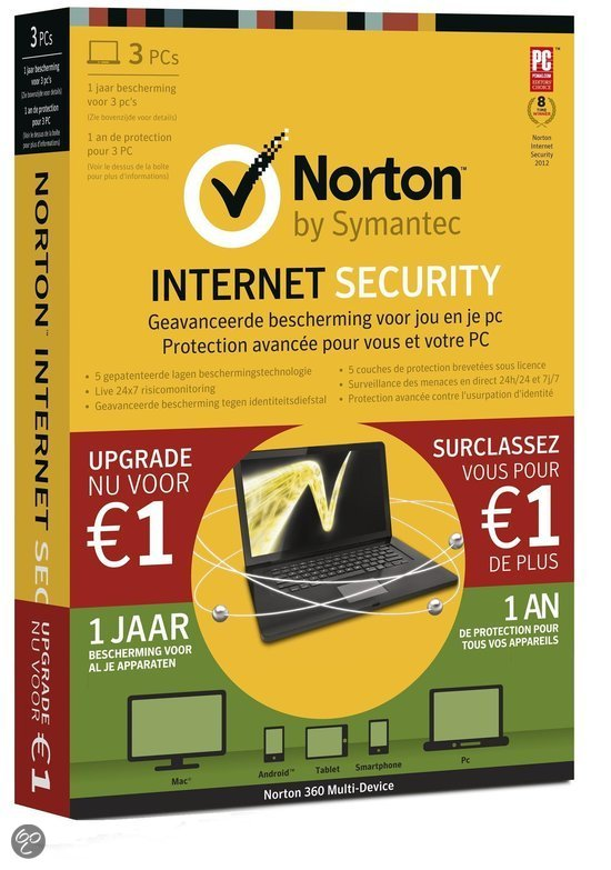 Norton Internet Security 2013 + Norton AntiTheft 1.0 - 3 Gebruikers / Nederlands (XMAS Bundel)