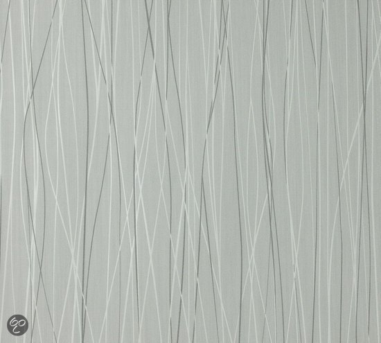 Dutch wallcoverings vliesbehang streepjes grijs wit klussen - Wit behang en grijs ...