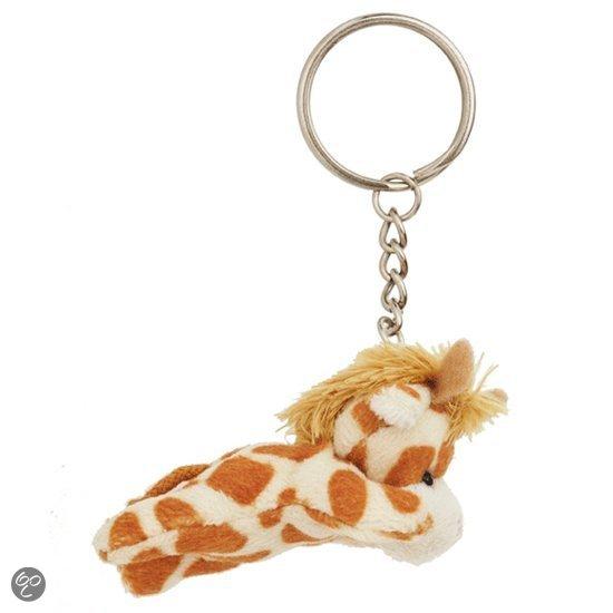 Giraffe sleutelhanger 6 cm in Wezel