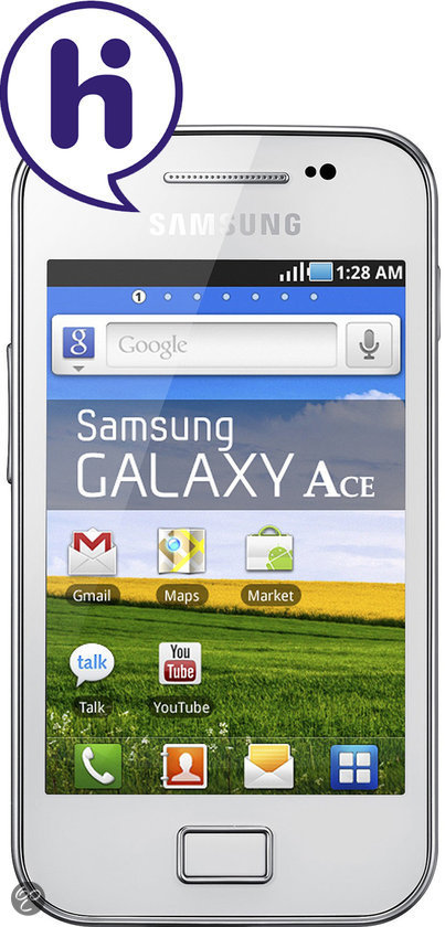 Samsung Galaxy Ace - Wit - Hi prepaid telefoon