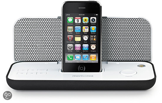 Memorex Pureplay - Draagbare speaker voor iPod en iPhone - Wit