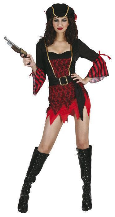 Luxe Piraat St Lucia - Kostuum - Maat M - Zwart