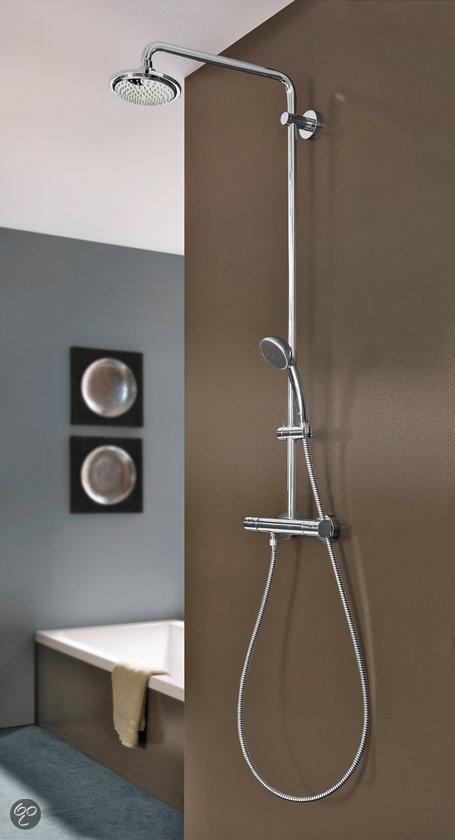 grohe vitalio douchesysteem regendouche 18 cm inclusief thermostaatkraan. Black Bedroom Furniture Sets. Home Design Ideas