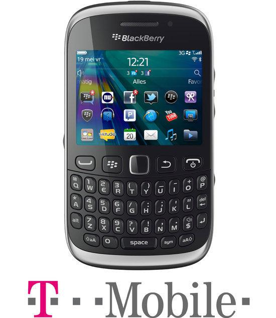 BlackBerry Curve 9320 - Zwart - T-Mobile prepaid telefoon