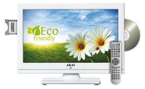 Akai ALED1605TWE - Led-tv/dvd-comboo - 16 inch - HD-ready - Wit