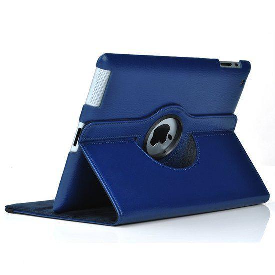 bol.com   Lederen hoes draaibare cover iPad Air - Blauw