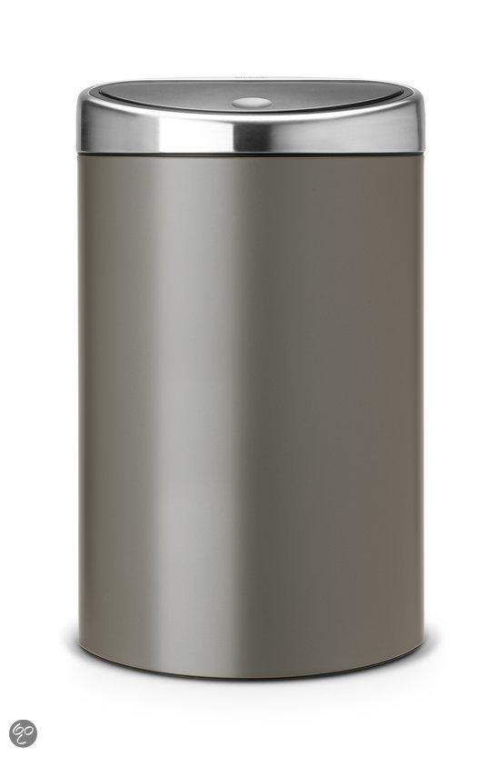 Brabantia touch bin prullenbak 40 l platinum - Poubelle automatique brabantia ...