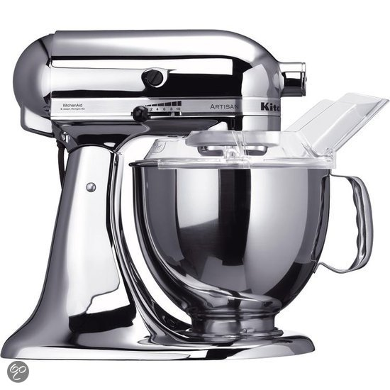 kitchenaid artisan 5ksm150psecr keukenmachine zilver. Black Bedroom Furniture Sets. Home Design Ideas