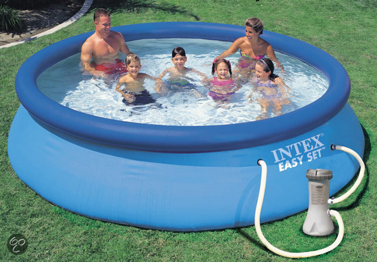 Intex easy set opblaasbaar zwembad 366 cm for Filterpomp zwembad