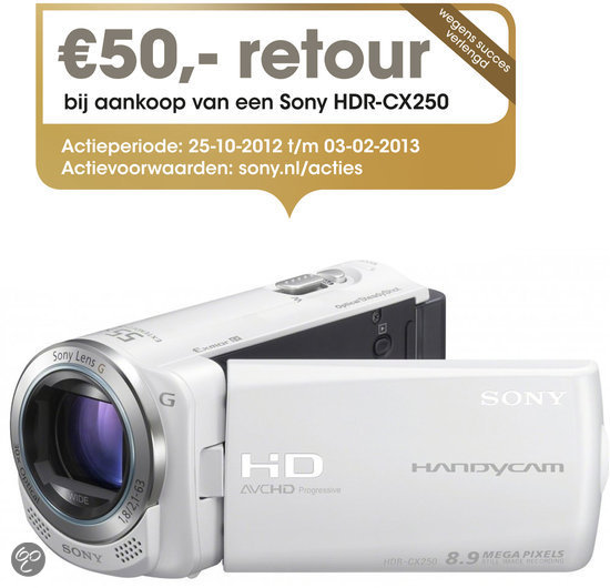 Sony Handycam HDR-CX250 - Wit
