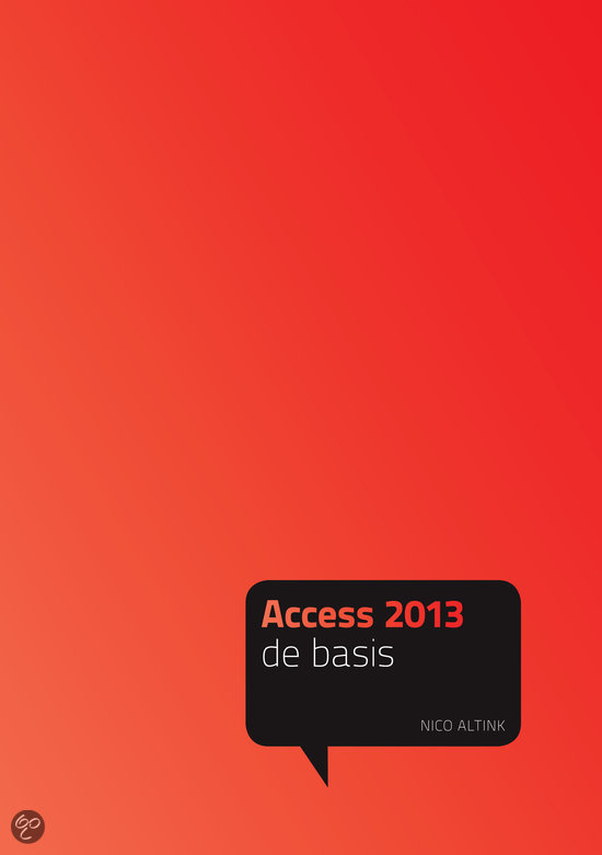 Acces 2013  / De basis