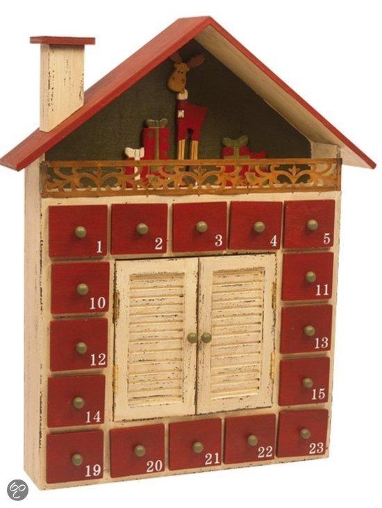 Houten adventskalender winter vakantiehuisje base toys - Kantoor houten school ...