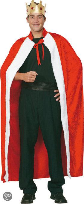 Luxe Koning - Kostuum - Maat M/L - Rood